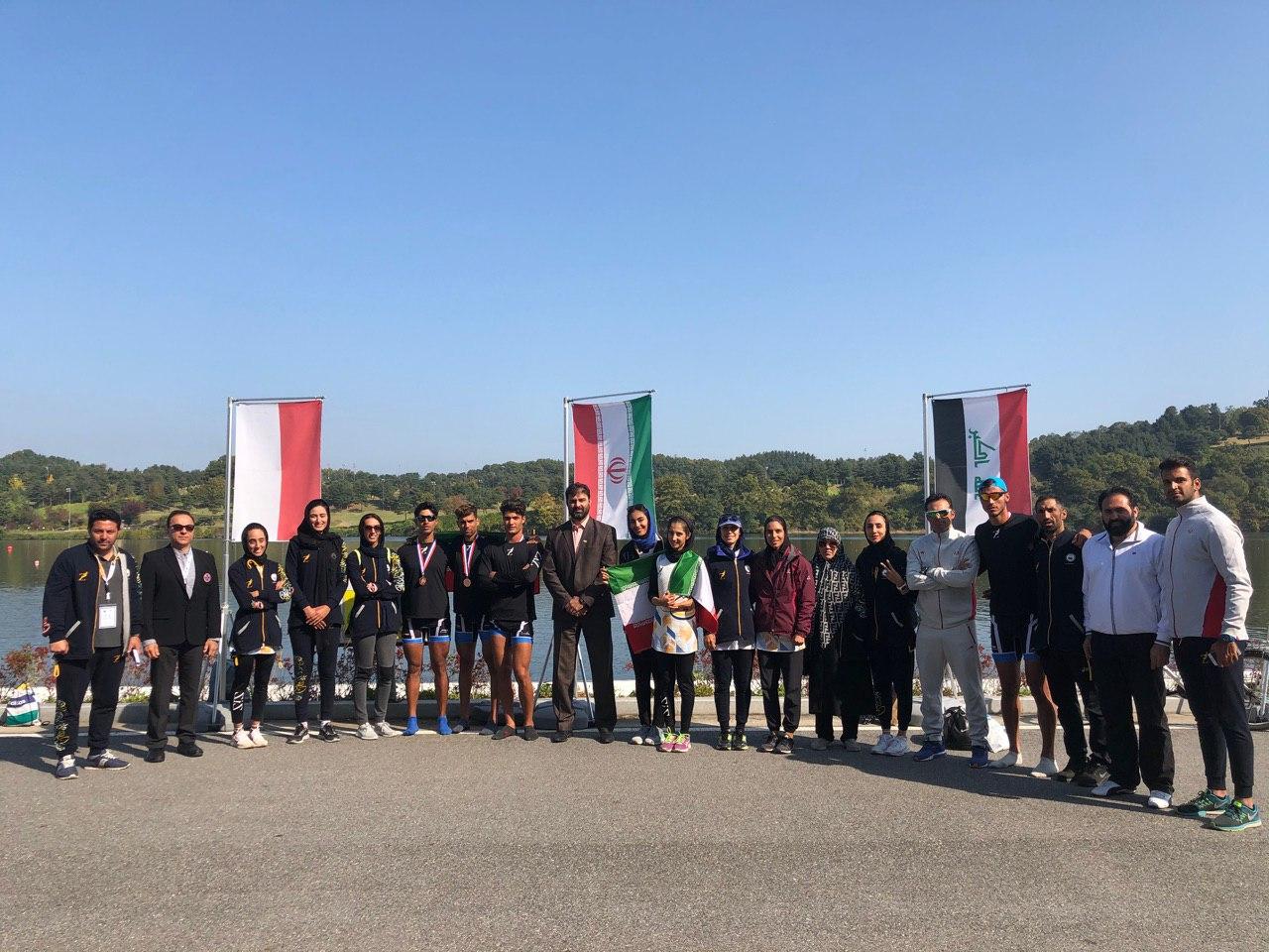 تیم روئینگ ایران در آسیا سوم شد