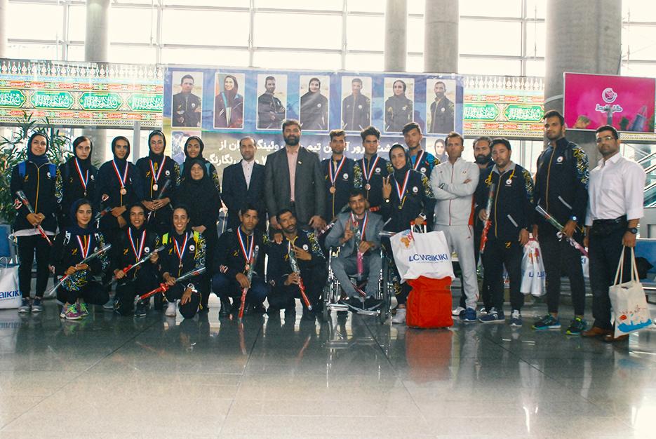 تیم ملی روئینگ ایران به کشور عزیزمان بازگشت