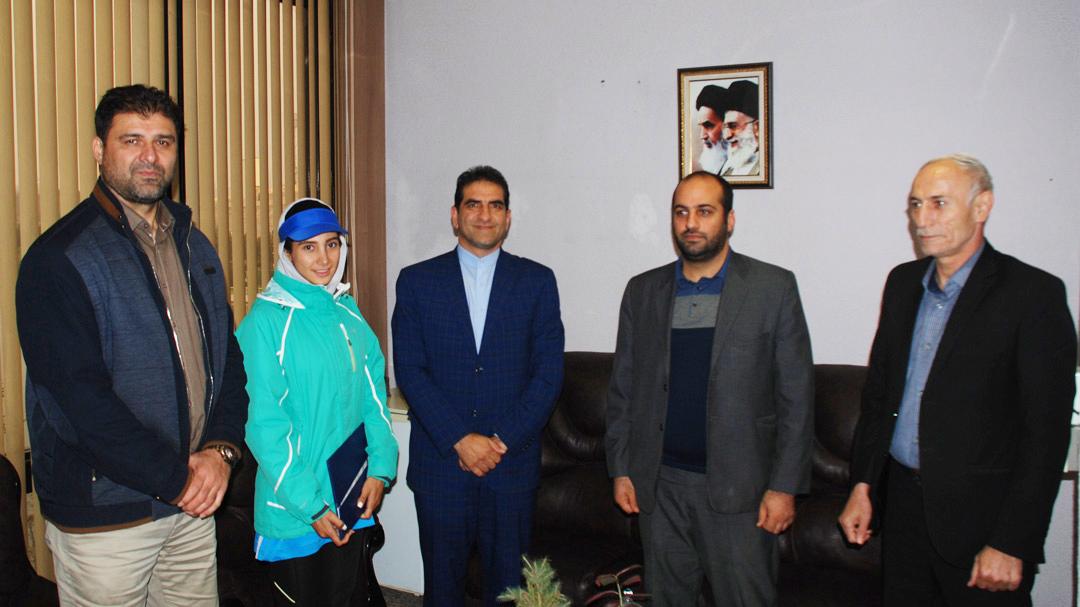 دیدار مدیرکل ورزش و جوانان همدان با علیرضا سهرابیان