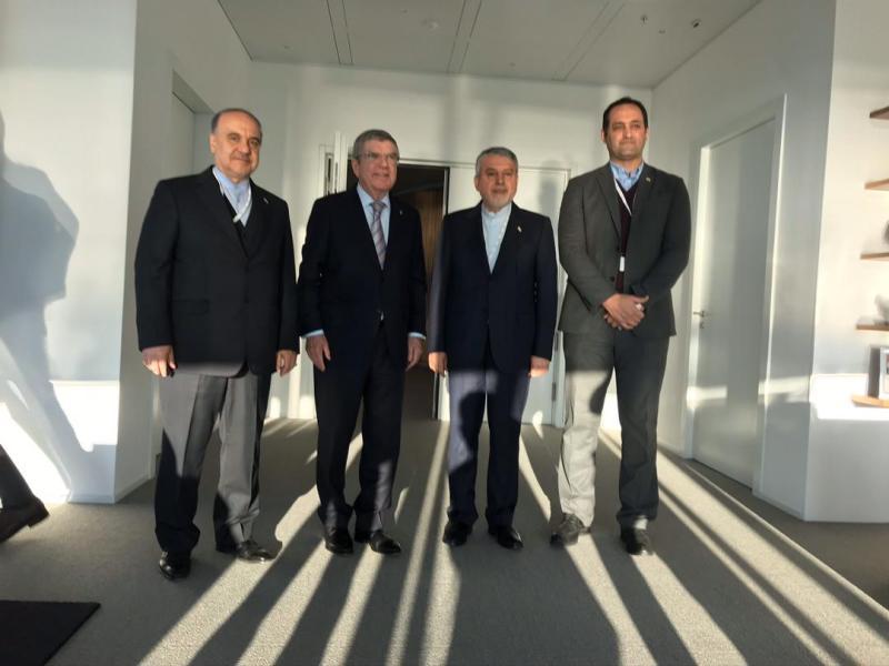 نشست مسئولین ورزش کشورمان با توماس باخ