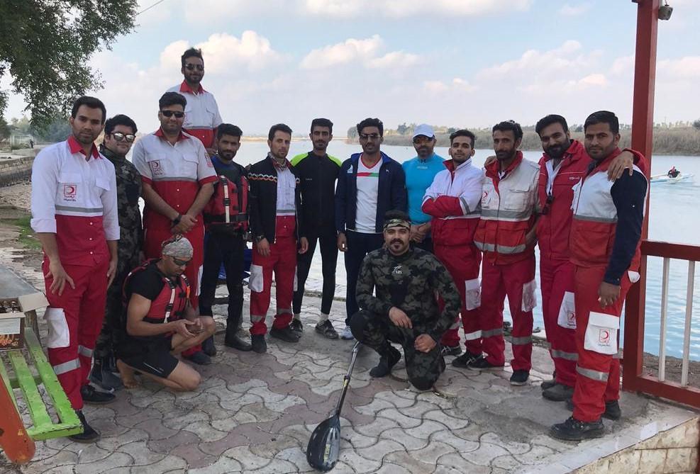 کارگاه آموزش قایقرانی به امدادگران سیلاب هلال احمر استان خوزستان