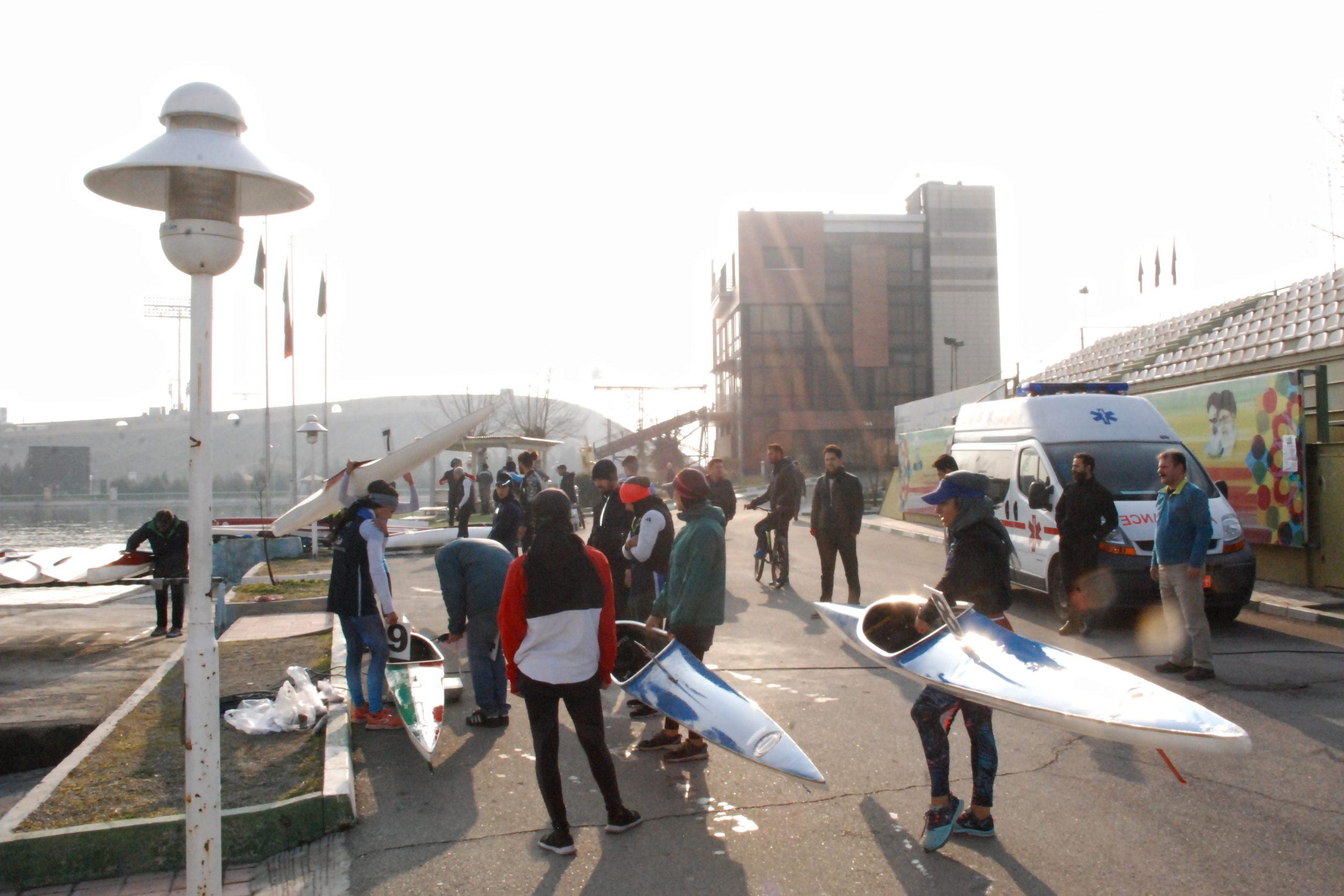 تست پایان اردو تیم های ملی آبهای آرام و پاراکانو در دریاچه آزادی