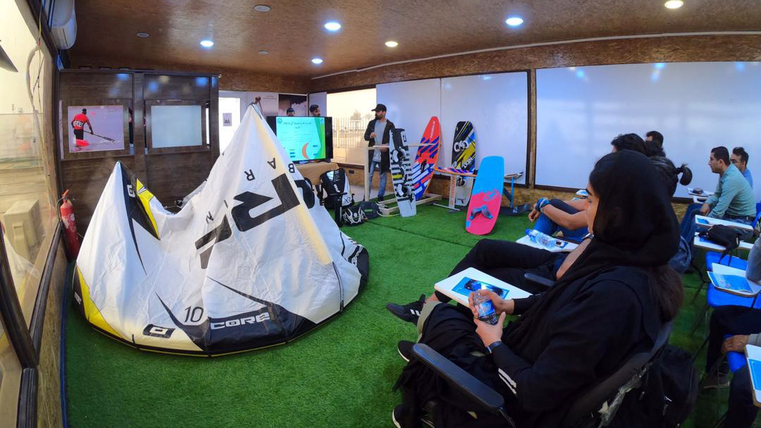 کارگاه تخصصی آشنایی با کایت بردینگ در بوشهر برگزار شد